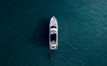luxury boat in water