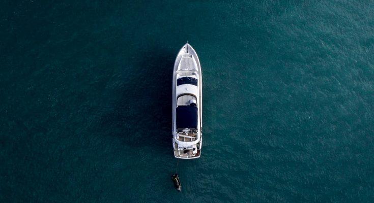luxury boat in water